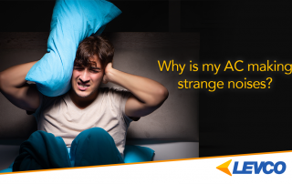 Man covering his ears, why is my AC making strange noises?