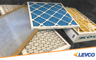 four different types of HVAC air filters
