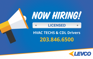 Now hiring licensed HVAC techs and CDL drivers 203-846-6500