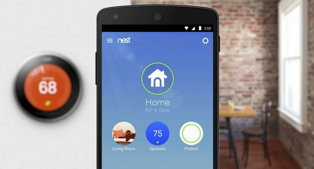 Nest app open on a smart phone.